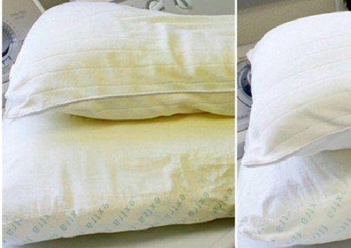 Descubre el secreto de como blanquear tus almohadas amarillas